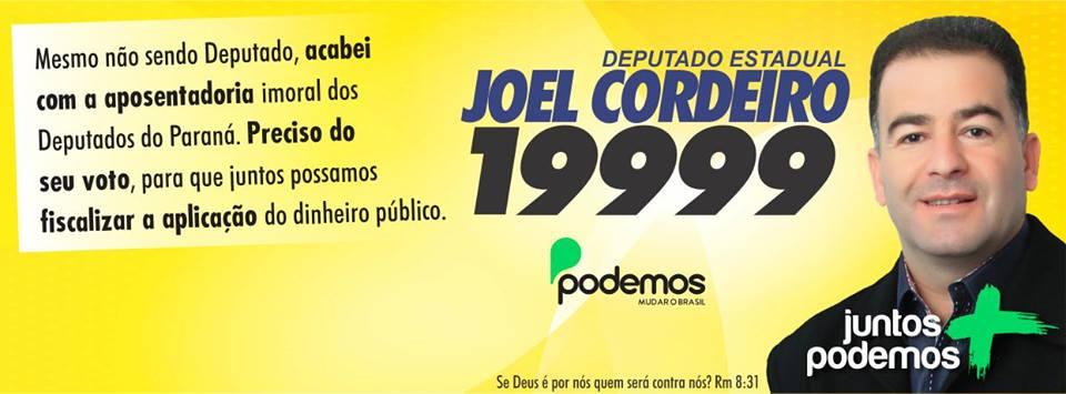 Joel Cordeiro Deputado Estadual – 19.999
